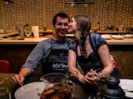 романтика в кулинарной студии